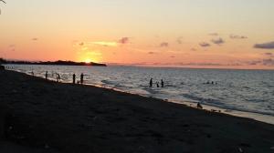 Sunset at Baybay, Roxas city