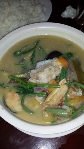 Mixed Seafood Sinigang...courtesy of Andoy's Restaurant:-)